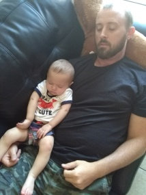 daddy and baby sleeping